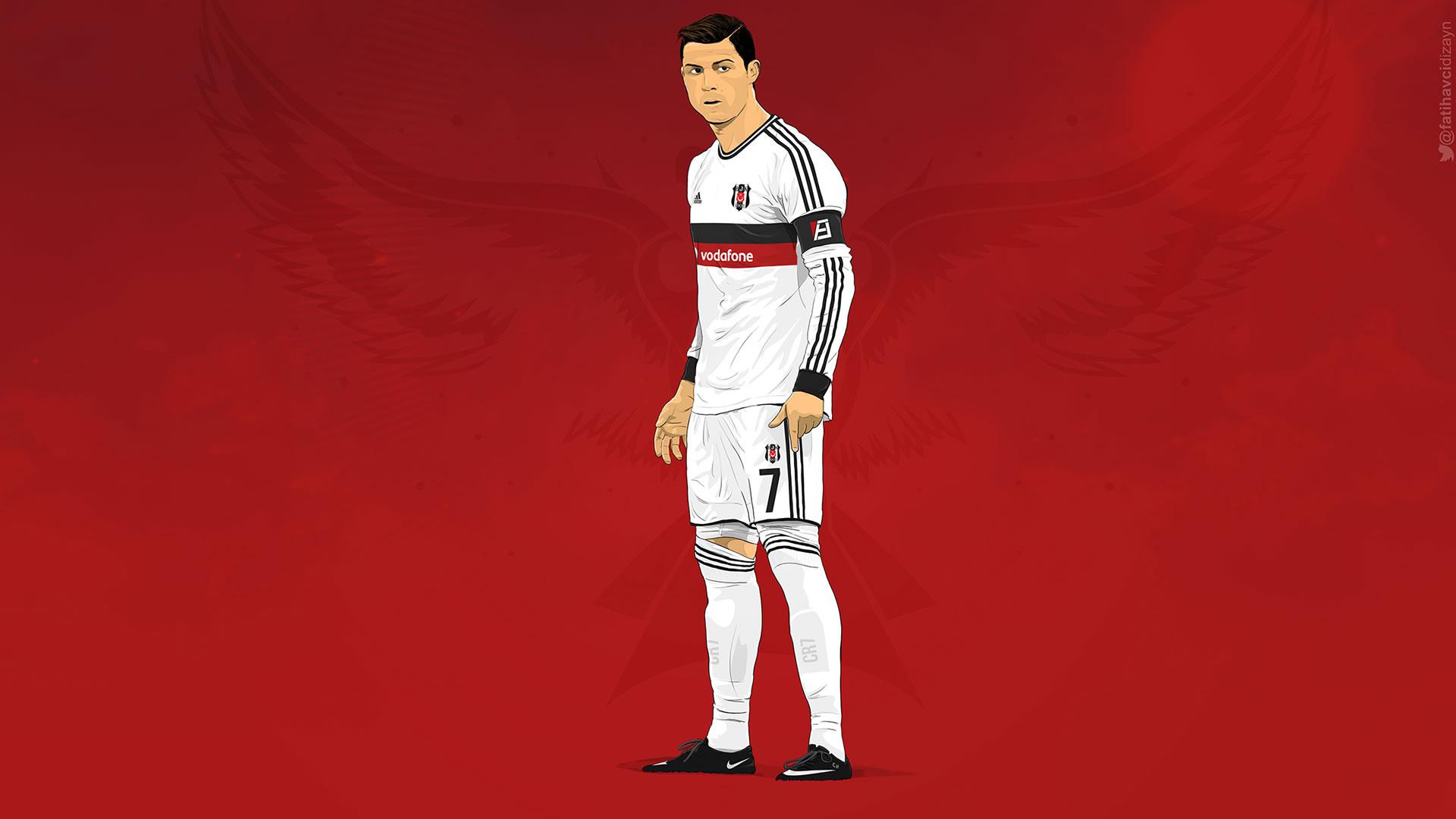 Cristiano Ronaldo Besiktas 2015 kit wallpaper