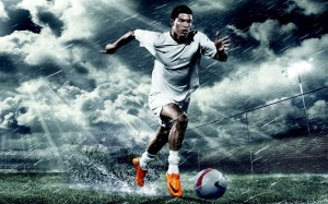 Cristiano Ronaldo Nike running wallpaper