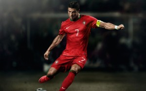 Cristiano Ronaldo Portugal free kick wallpaper