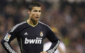 Cristiano Ronaldo black Real Madrid jersey wallpaper