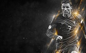 Cristiano Ronaldo black and white wallpaper