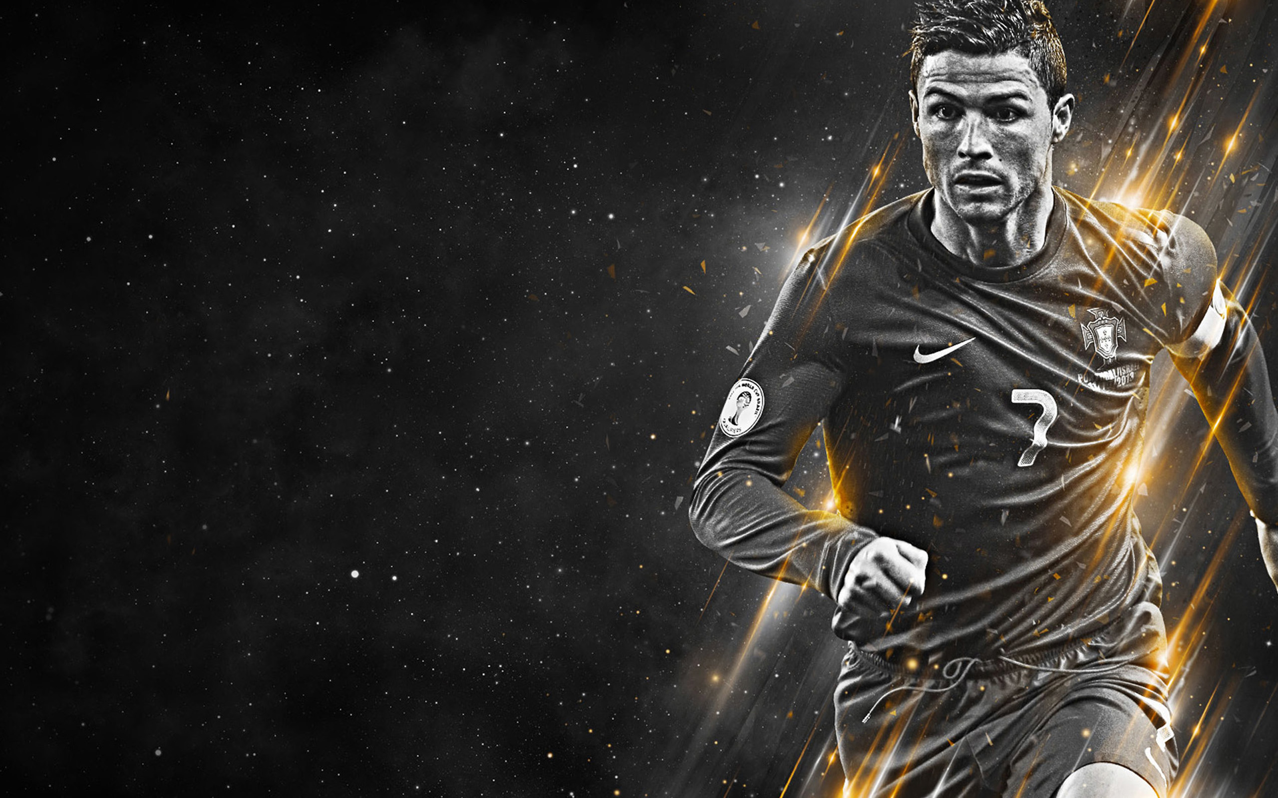 Cristiano Ronaldo black and white wallpaper