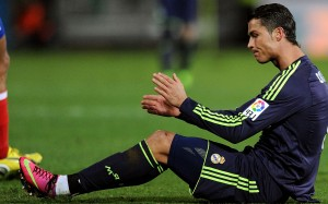 Cristiano Ronaldo blue Real Madrid jersey wallpaper