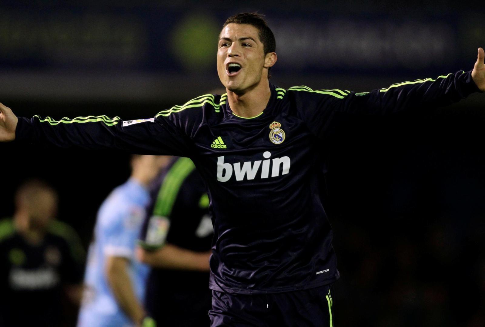 Cristiano Ronaldo Celebrating A Goal Wallpaper Cristiano
