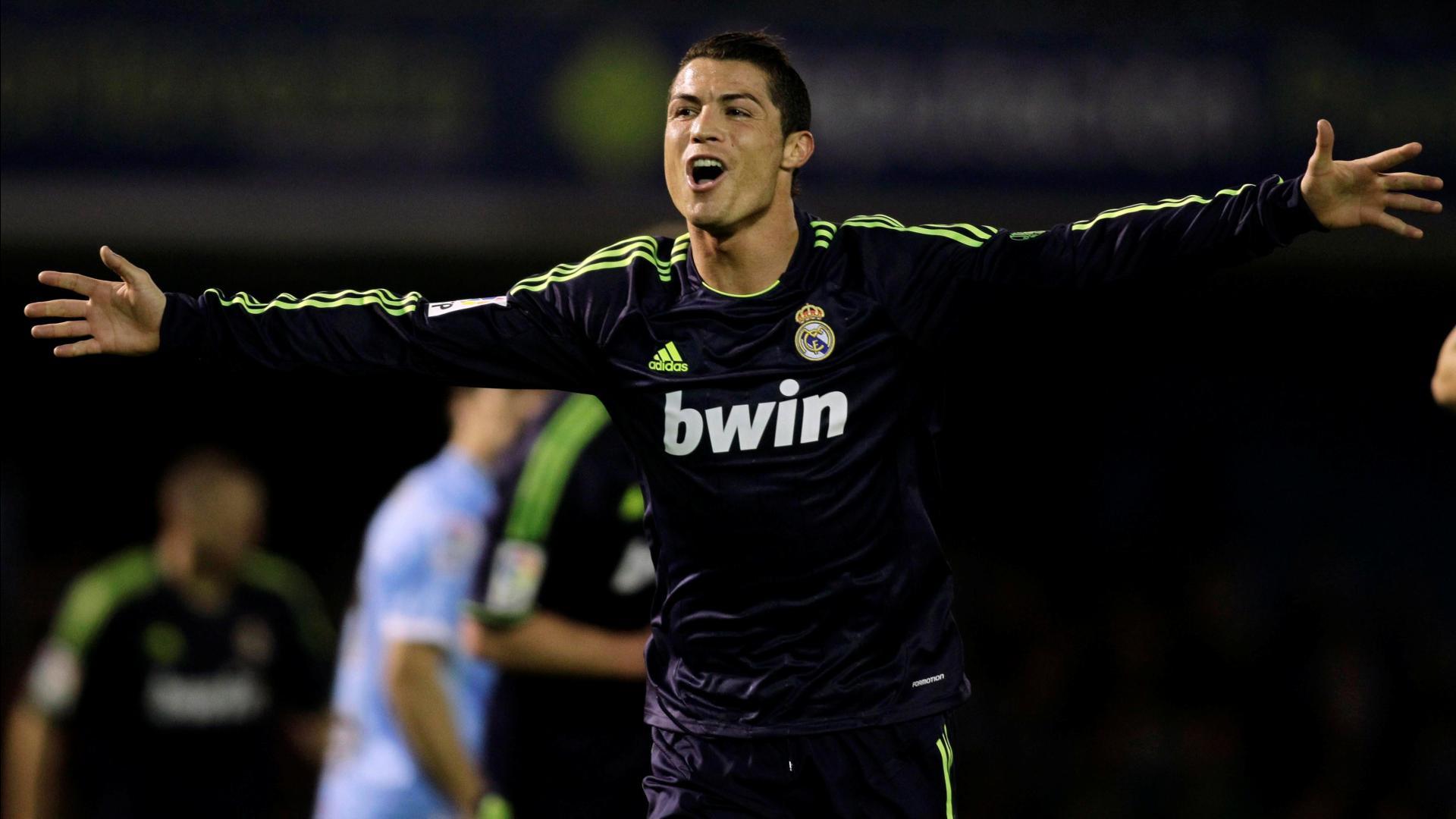 Cristiano Ronaldo celebrating a goal wallpaper