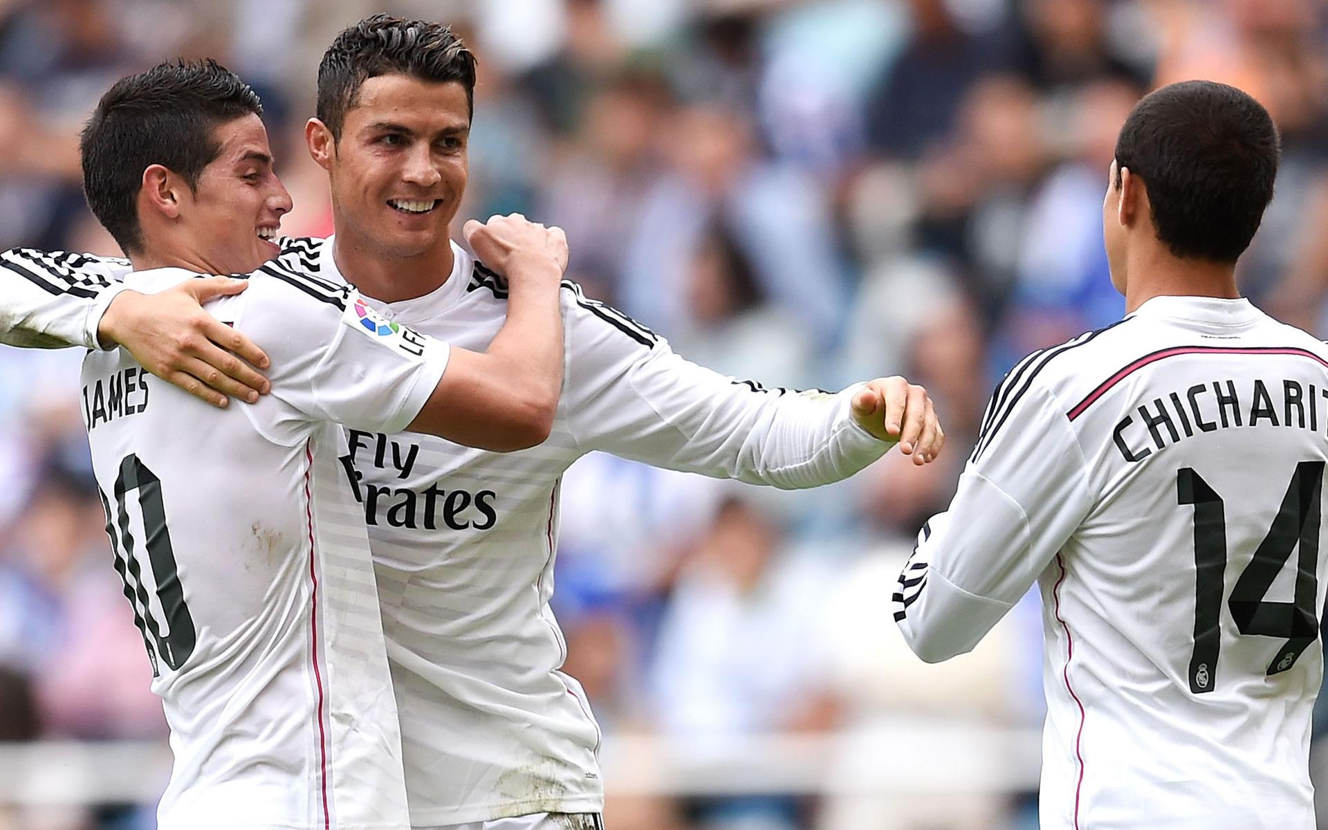 Cristiano Ronaldo celebrating wallpaper