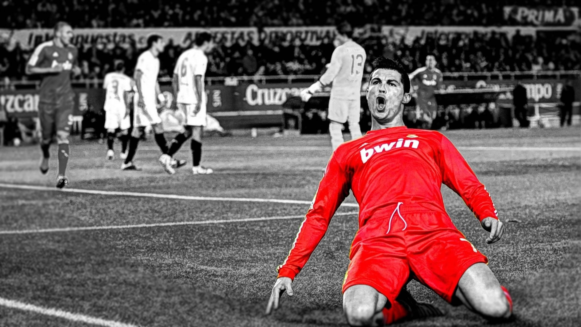 Cristiano Ronaldo goal celebration wallpaper