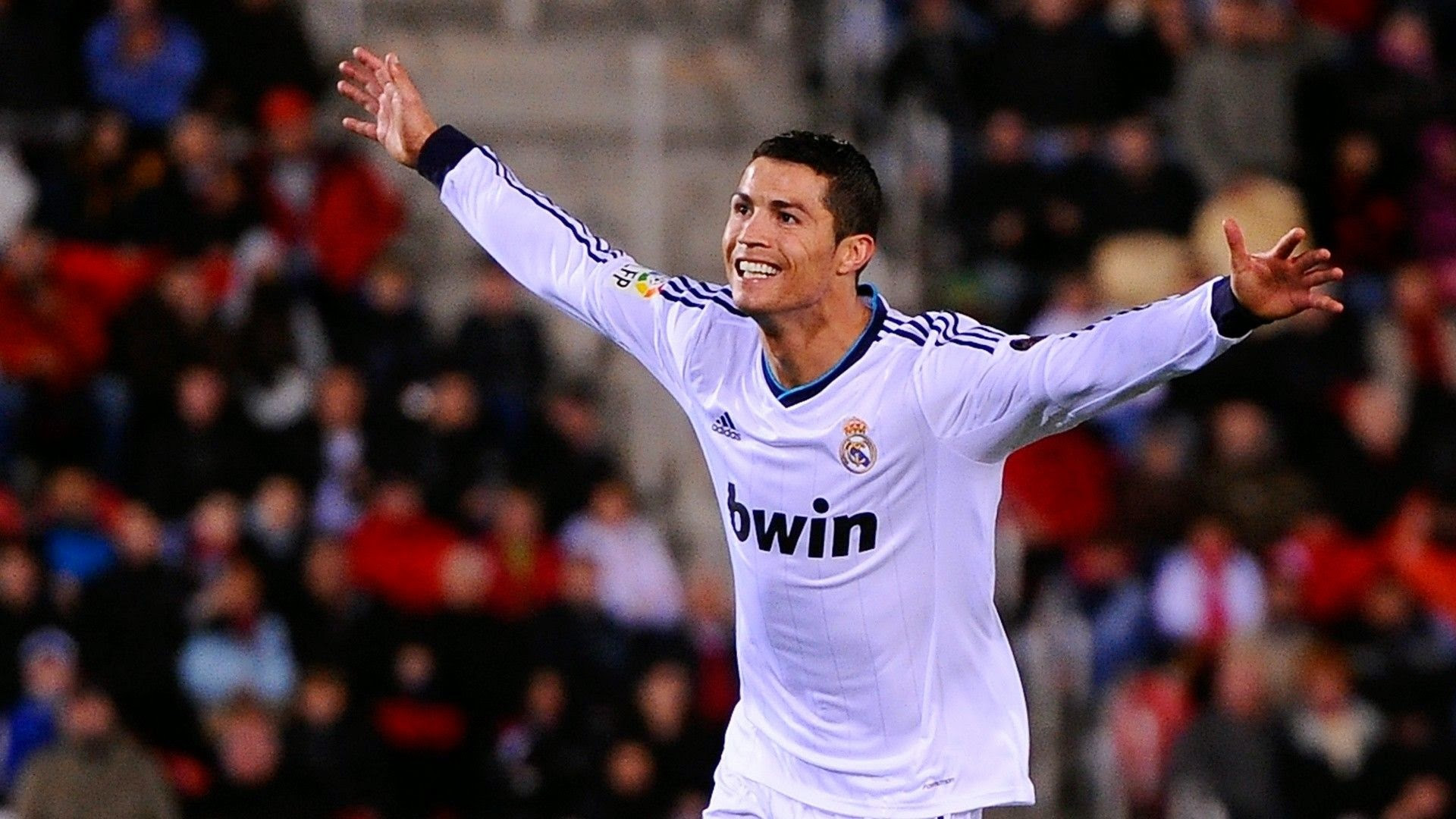 Cristiano Ronaldo happy wallpaper