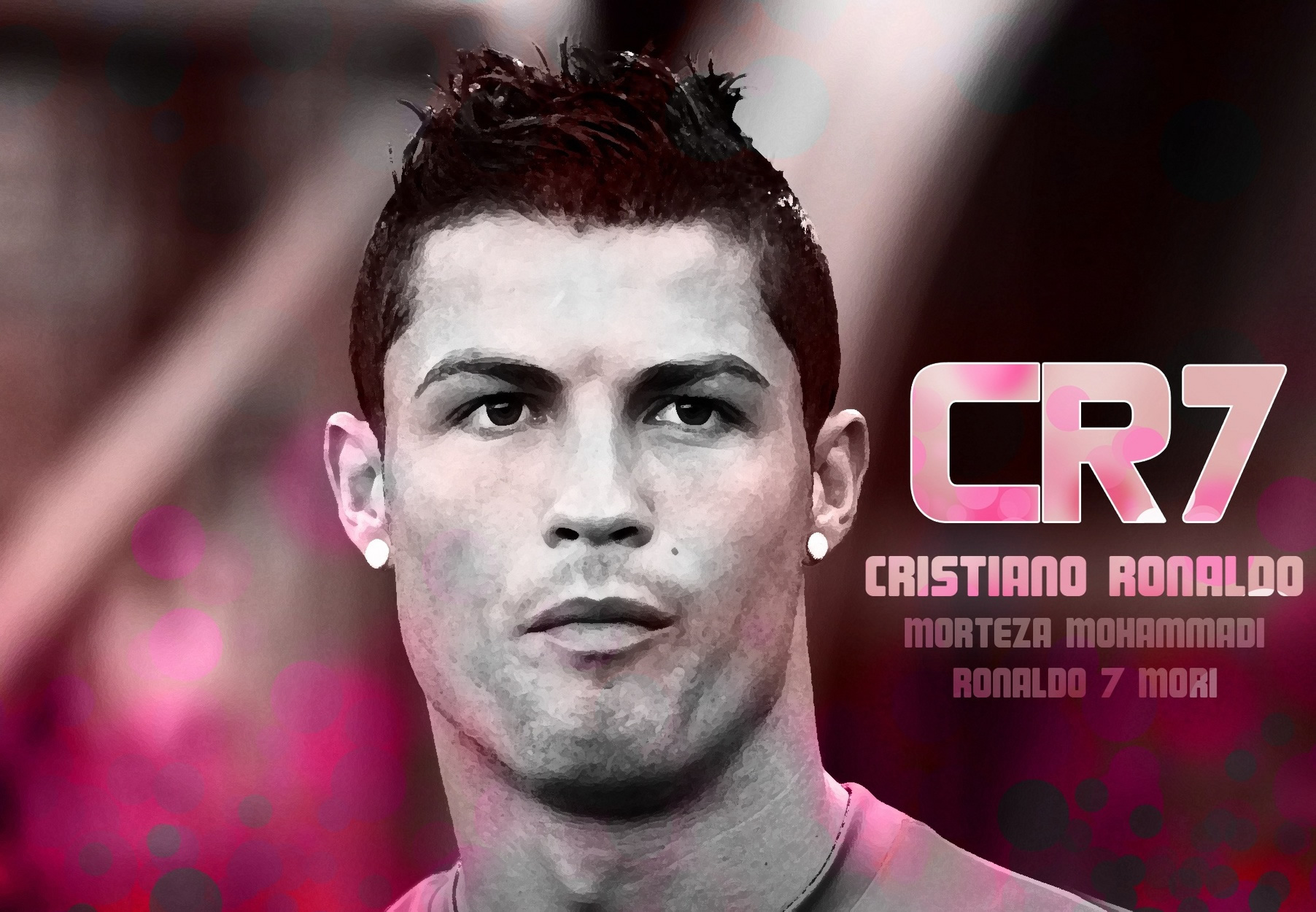 Cristiano Ronaldo head wallpaper