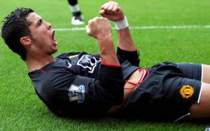 Cristiano Ronaldo in Manchester United jersey