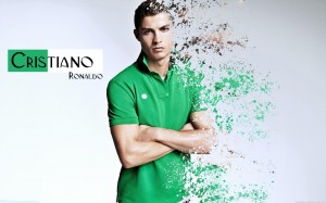 Cristiano Ronaldo in green shirt wallpaper