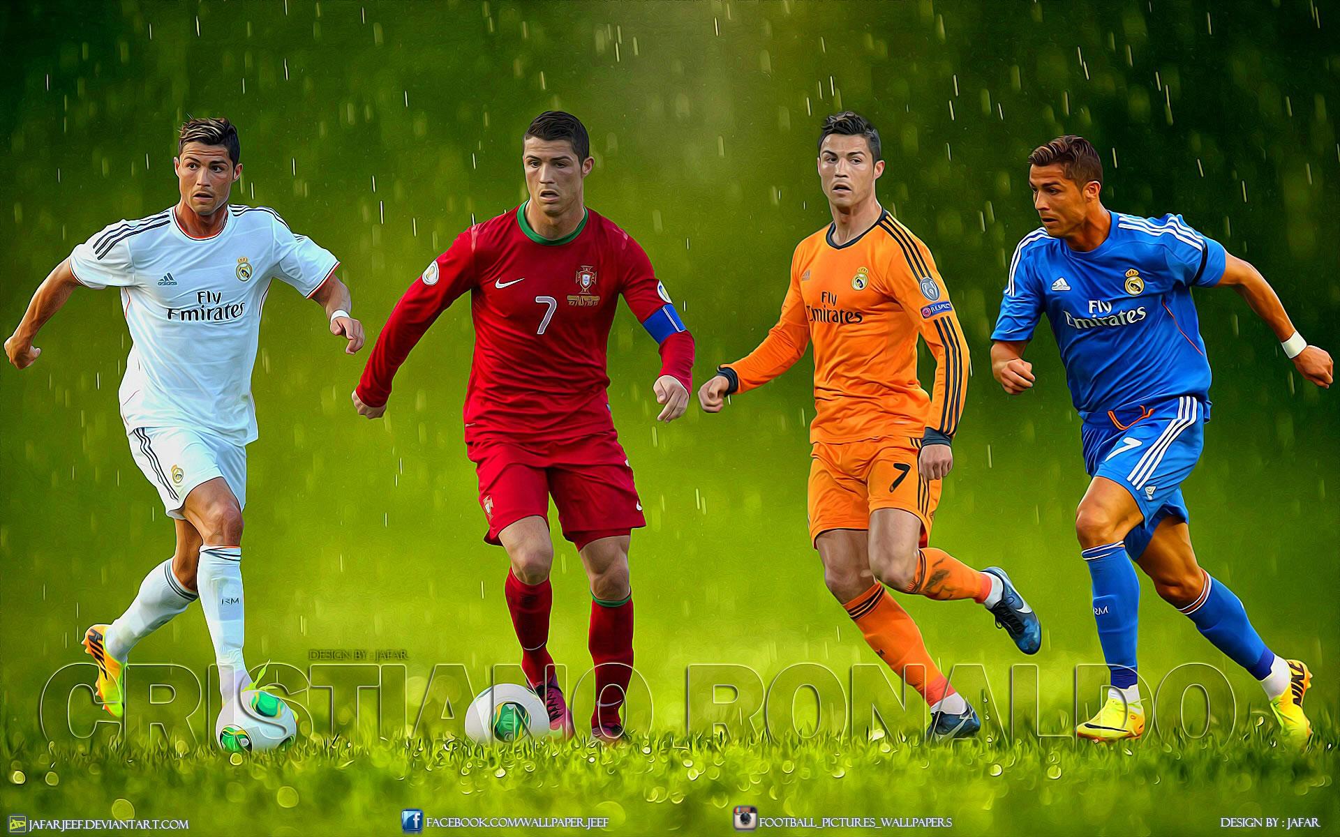 "Cristiano Ronaldo ""kits"" wallpaper by Jafarjeef"
