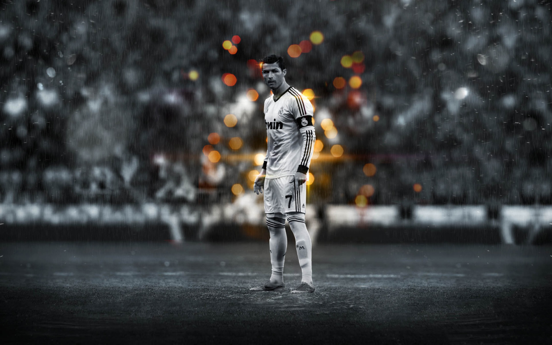 Cristiano Ronaldo preparing to strike wallpaper