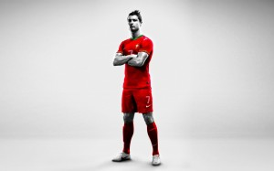 Cristiano Ronaldo Red Portugal Jersey Wallpaper