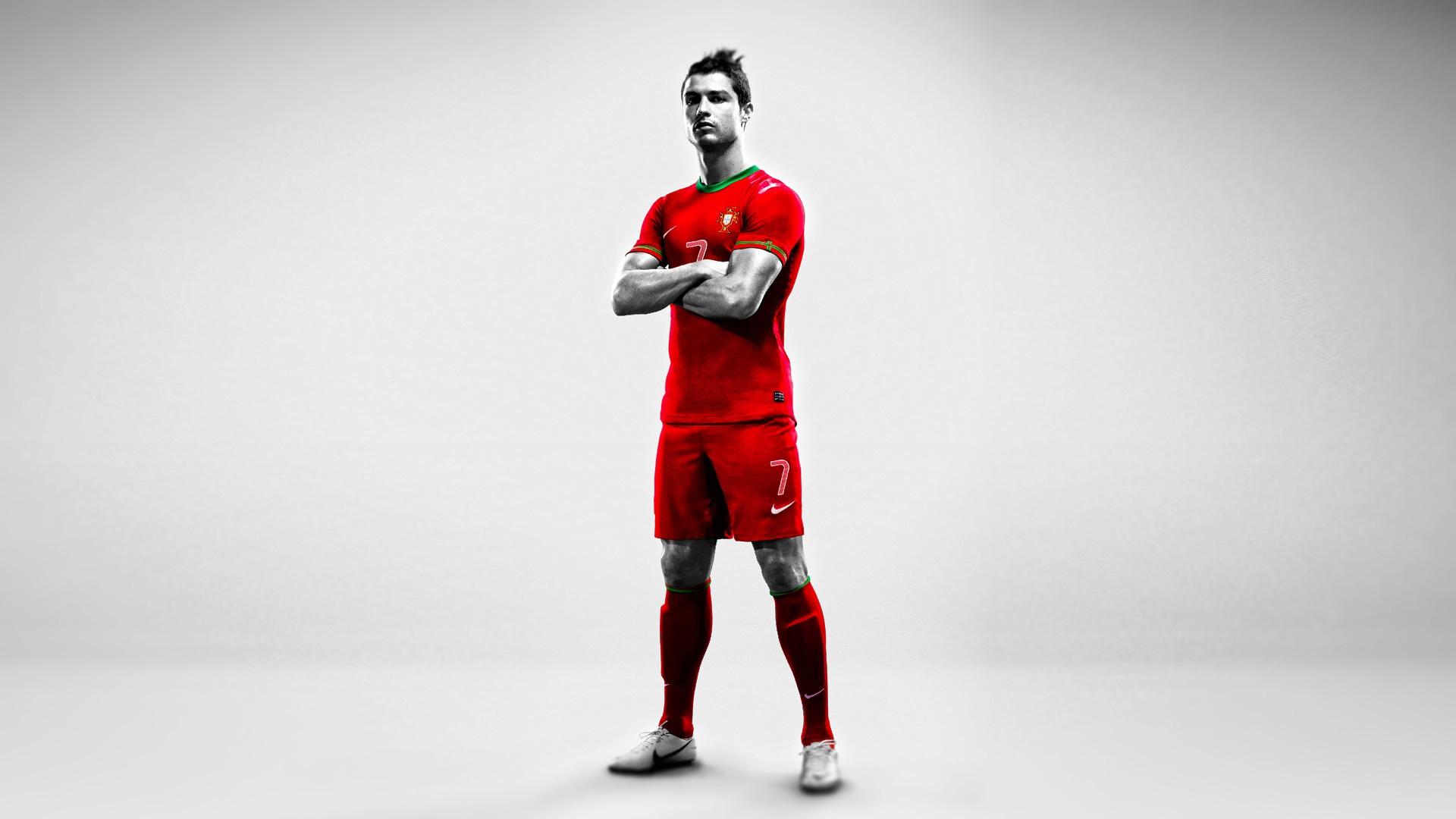 Cristiano Ronaldo Red Portugal Jersey Wallpaper