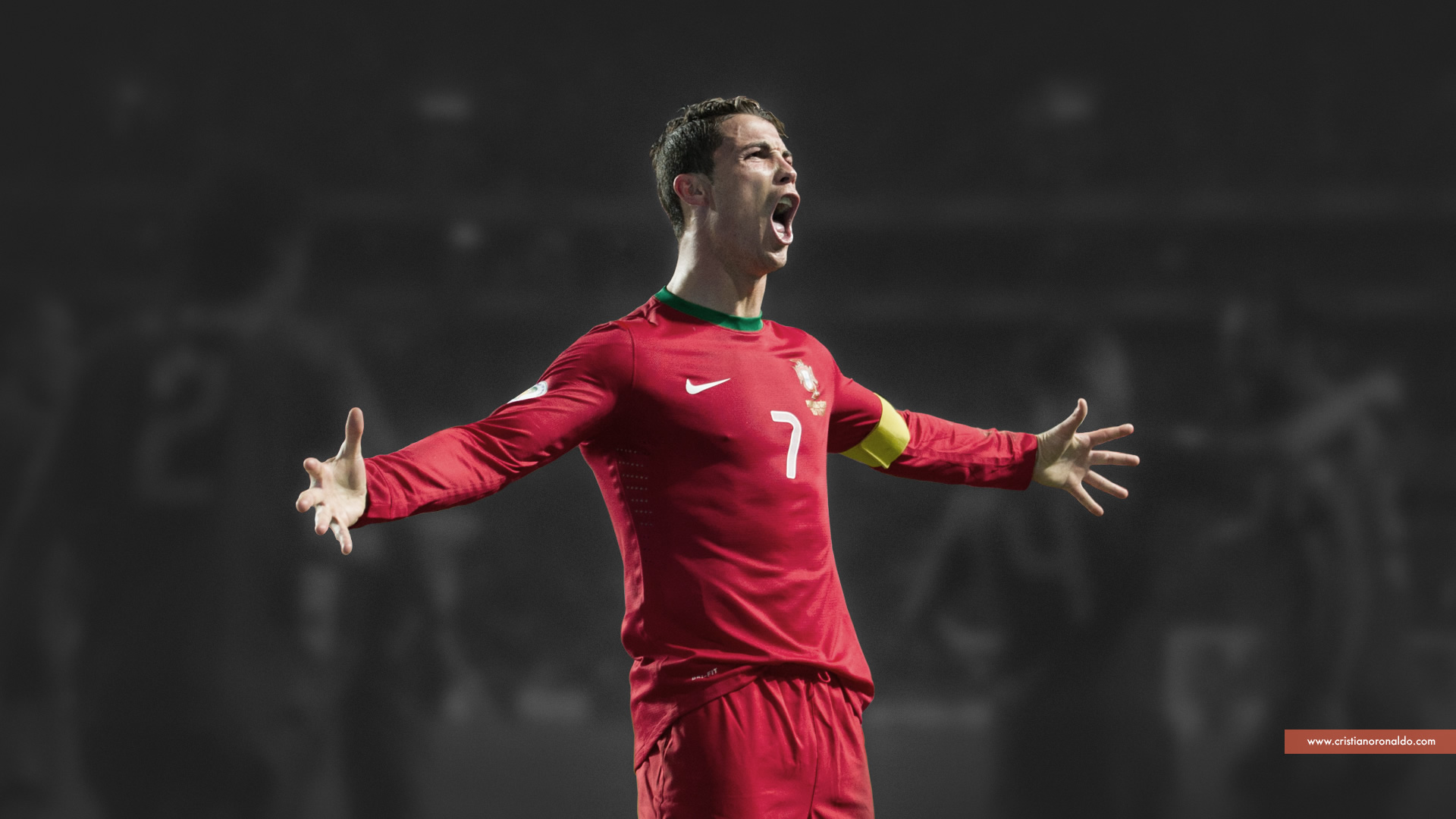 Cristiano Ronaldo Screaming Wallpaper