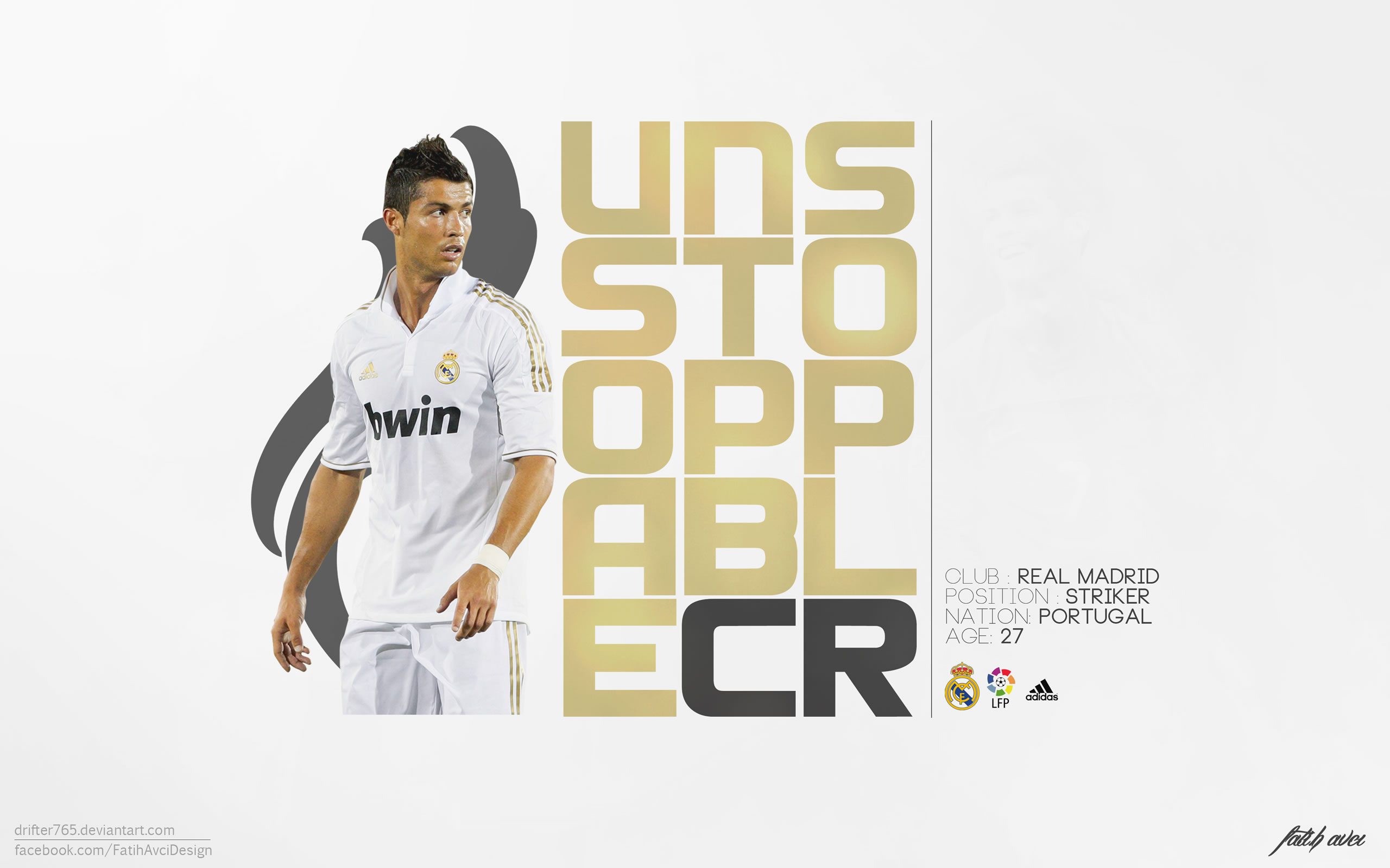 Cristiano Ronaldo unstoppable wallpaper by Drifter765