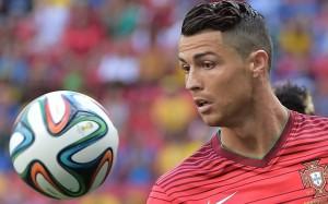 Cristiano Ronaldo with ball