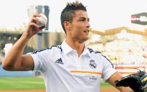 Cristiano Ronaldo with baseball wallpaper
