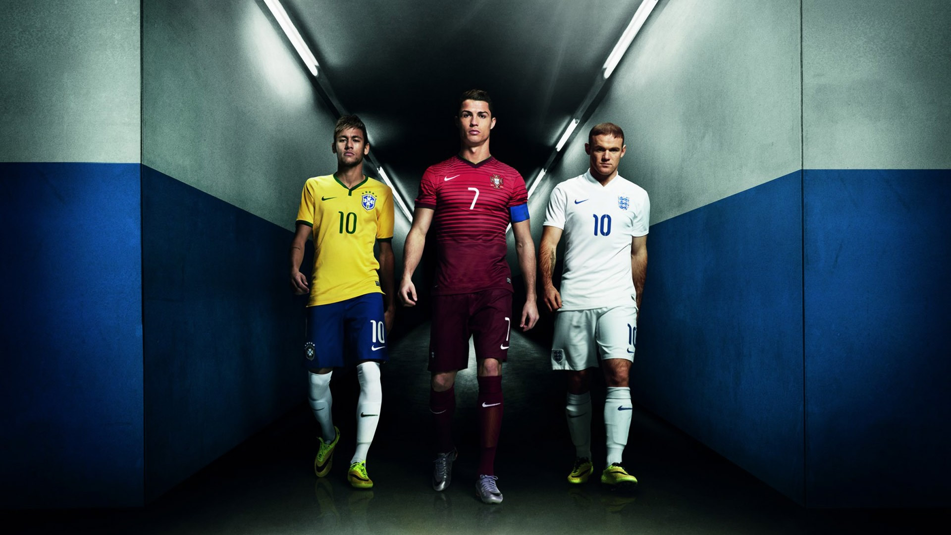 Neymar, Ronaldo, and Rooney - Nike wallpaper