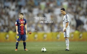 Ronaldo and Messi wallpaper by Drifter765
