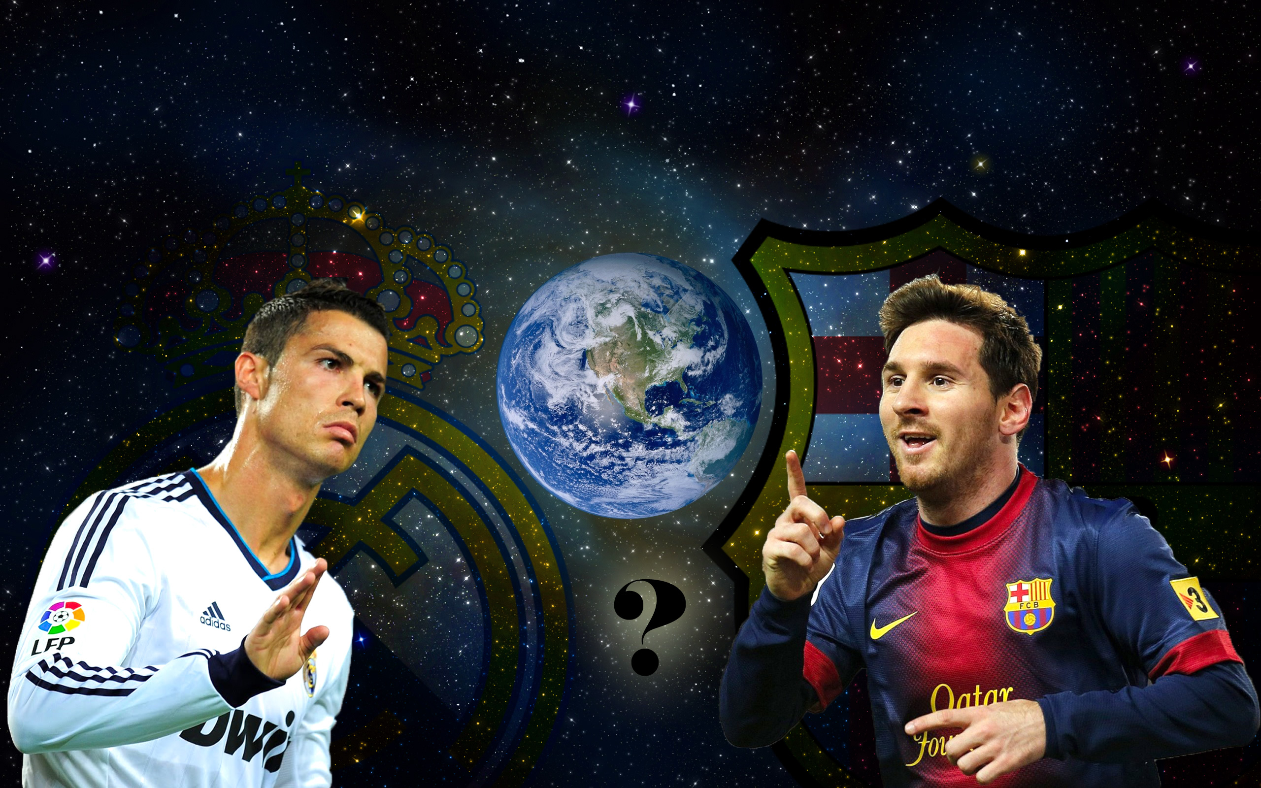 Ronaldo vs Messi wallpaper