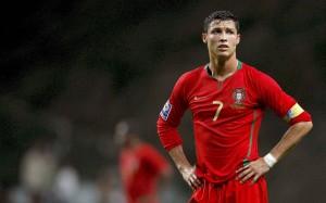 Sad Cristiano Ronaldo Portugal 2008 wallpaper